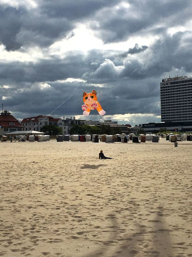 Kite Flying Animals Warnemünde Beach Autumn Cloud Clouds And Sky Building Exterior Built Structure Architecture Waterfront Vacations Sand Sky Travel Destinations Cloud - Sky Mid-air Tourism Flying Water Outdoors Day Tranquil Scene People And Places My Favorite Place