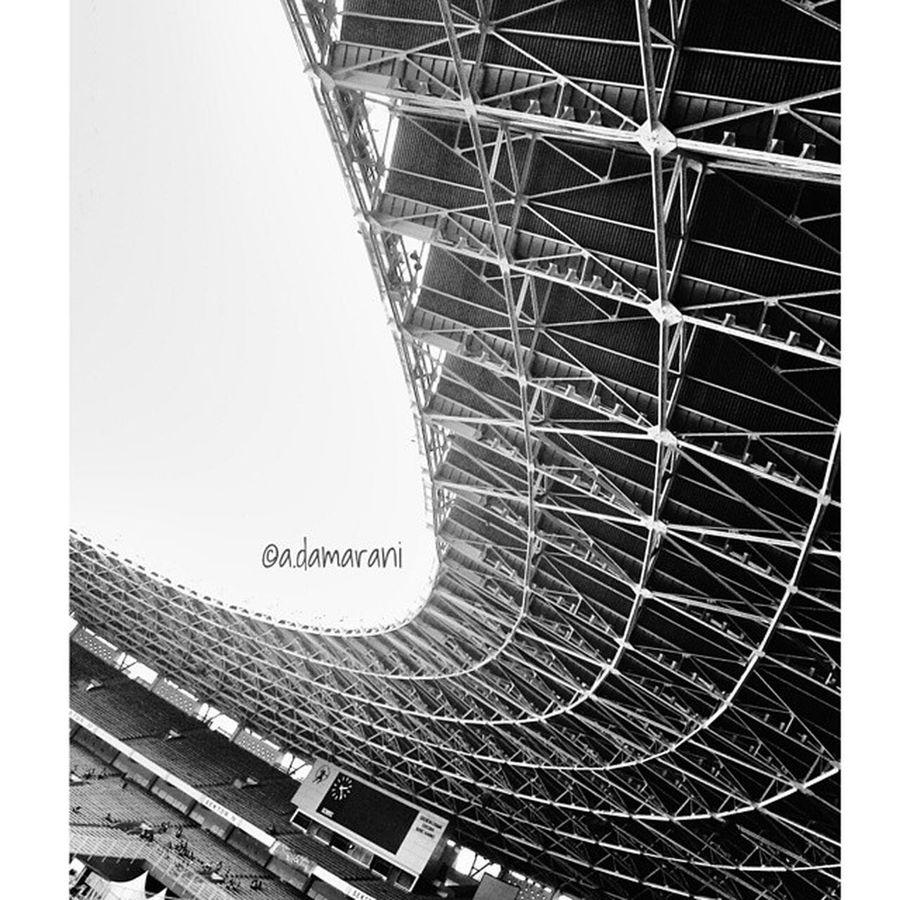 Jakarta INDONESIA Blackandwhite Monochrome Gelorabungkarno Natalgbi Geometric Shapes