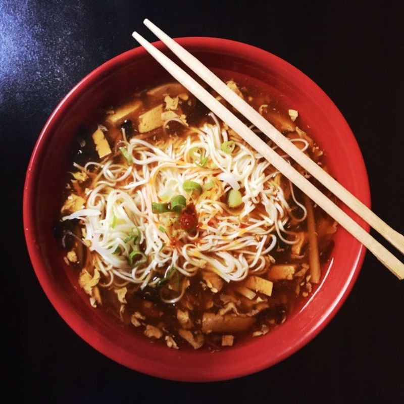 Hot And Sour Soup Ramen Bestmealoftheday On The Table Asianfood