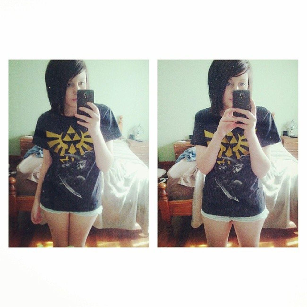 I have too many Legend of Zelda shirts.. Loz Zelda LegendOfZelda  Triforce favourite link power wisdom courage selfie
