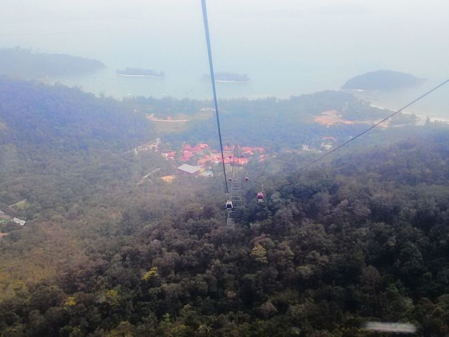 Cable Car Langkawi Island Malaysia Sky City Aerial View Outdoors Day Horizontal No People Nature Cityscape Illuminated Architecture