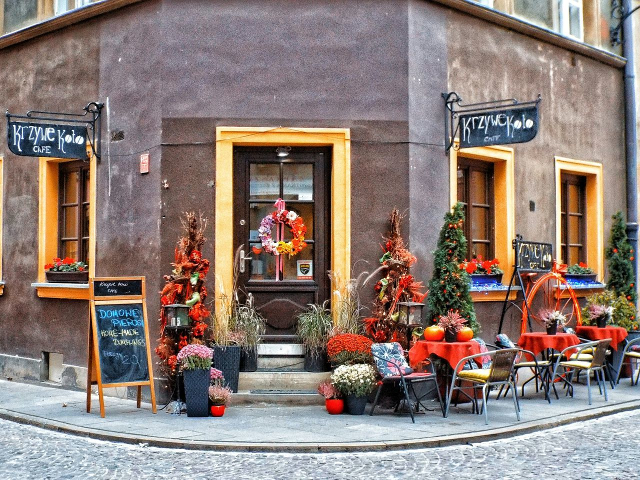 Building Exterior Architecture Built Structure Flower Façade Outdoors City Day Flowers Street Photography Warszawa  Cafe Restaurant Street Life Color Fiori Nature Flower Collection Eyem Gallery Caffè Exterior Building Exterior Decoration Decoracion Decorazioni EyeEm Gallery