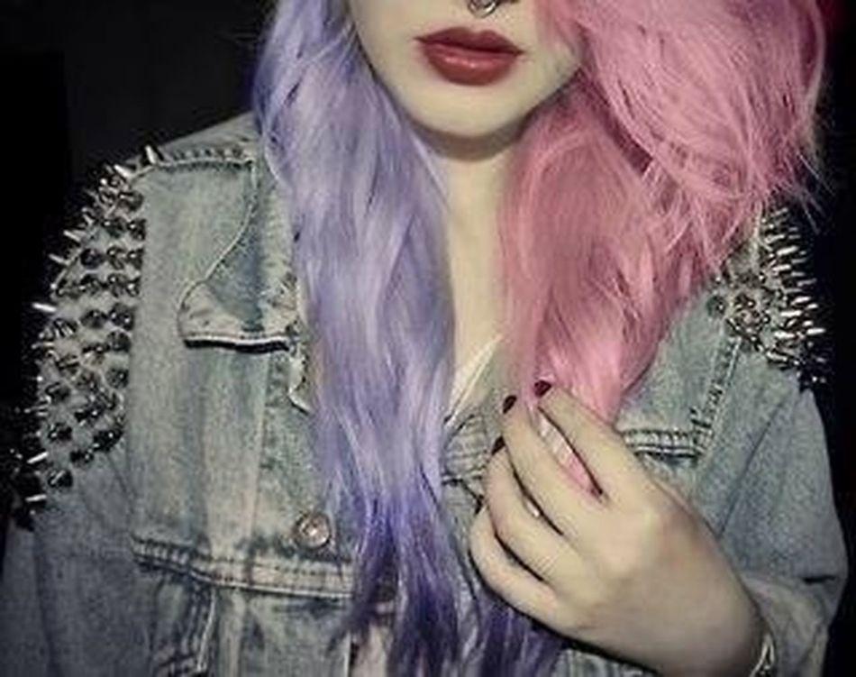 Girl Hair Violet Hair Pink Hair