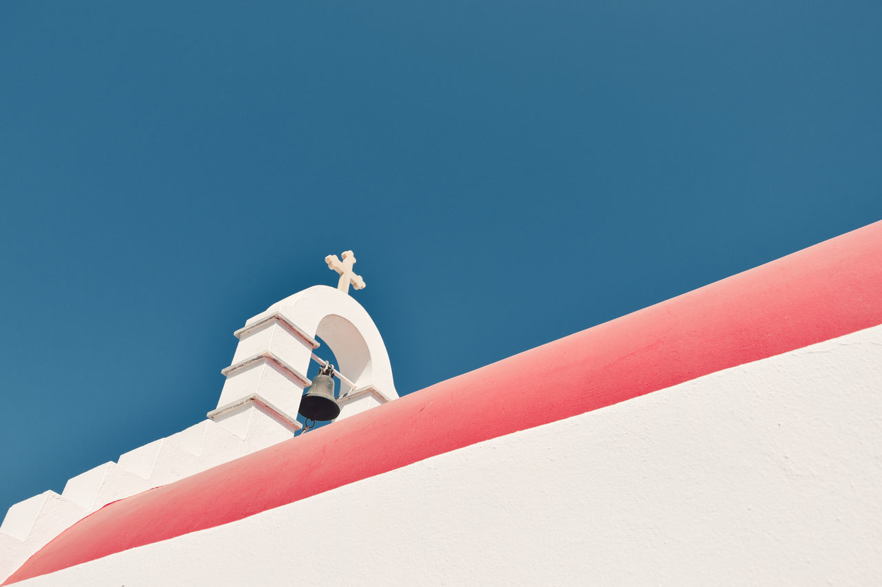 Architecture Blue Building Exterior Built Structure Clear Sky Copy Space Day Low Angle View Mykonos Mykonos,Greece Nature Nautical Vessel No People Outdoors Sky Sunlight The Architect - 2017 EyeEm Awards The Great Outdoors - 2017 EyeEm Awards