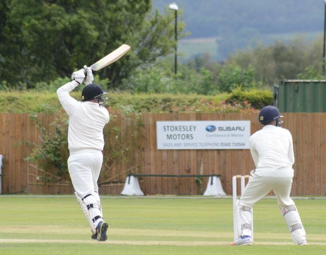Inside out cover drive over the top Batsman, James Dobson Cricket!