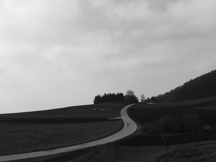 Road between Borje and Kalnik, Croatia, 2017. Blackandwhite Landscape Road The Way Forward Scenics Tranquility Non-urban Scene Tranquil Scene Beauty In Nature Hill House Mountain