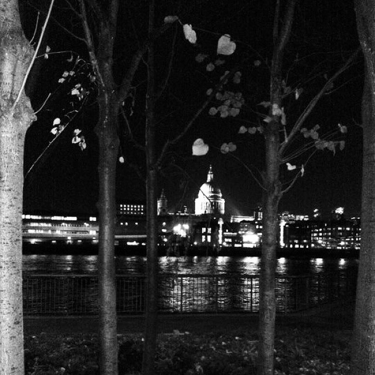 A view of StPaulscathedral from TheSouthBank Thames London BW Cathedral