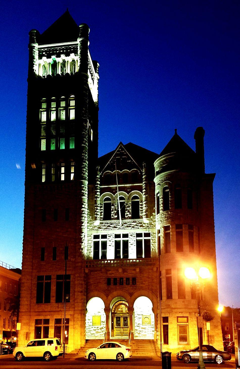 Syracuse City Hall at night. Landmark City Hall City At Night Syracuse Architecture Syracuse Ny Olympus Stylus 1