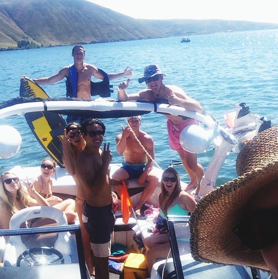 Boating Lucky Peak Friends Summer Fun