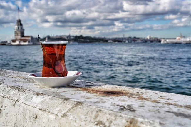 Nobody Istanbullovers Istanbul Turkey Drinks Clouds And Sky Sky Turkishtea Turkish Tea Tea Clouds Beverage Drink Turkish Istanbul Turkey Istanbuldayasam Maidentower Maidenstower Maiden Tower