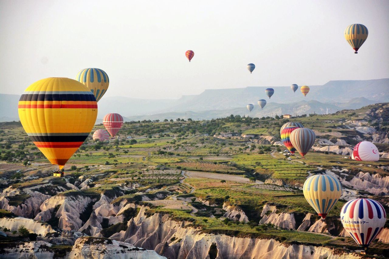 Beautiful stock photos of balloon, Beauty In Nature, Day, Flying, High Angle View