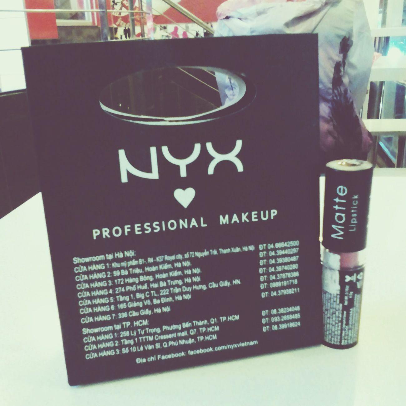 my brand new NYX lipstick <3