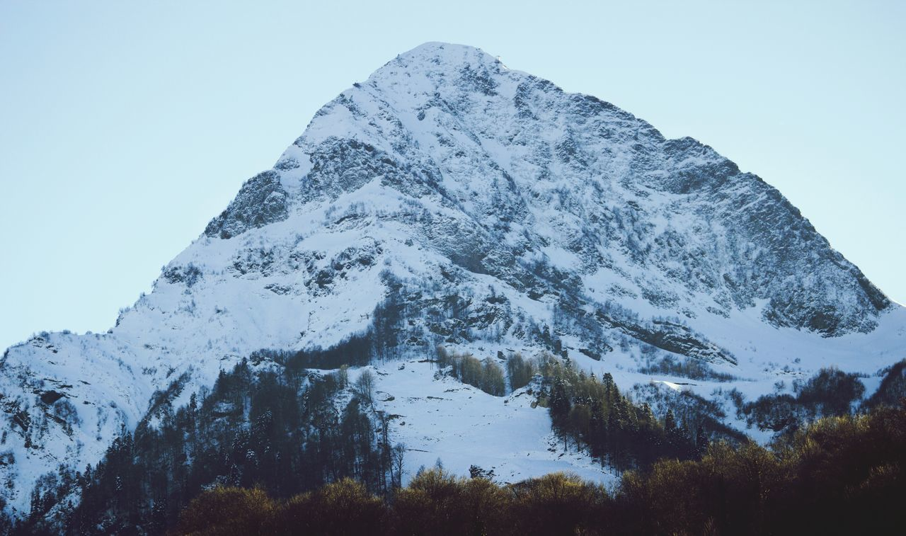 Mountain Mountains Snow Black Pyramid Sochi Krasnaya Polyana