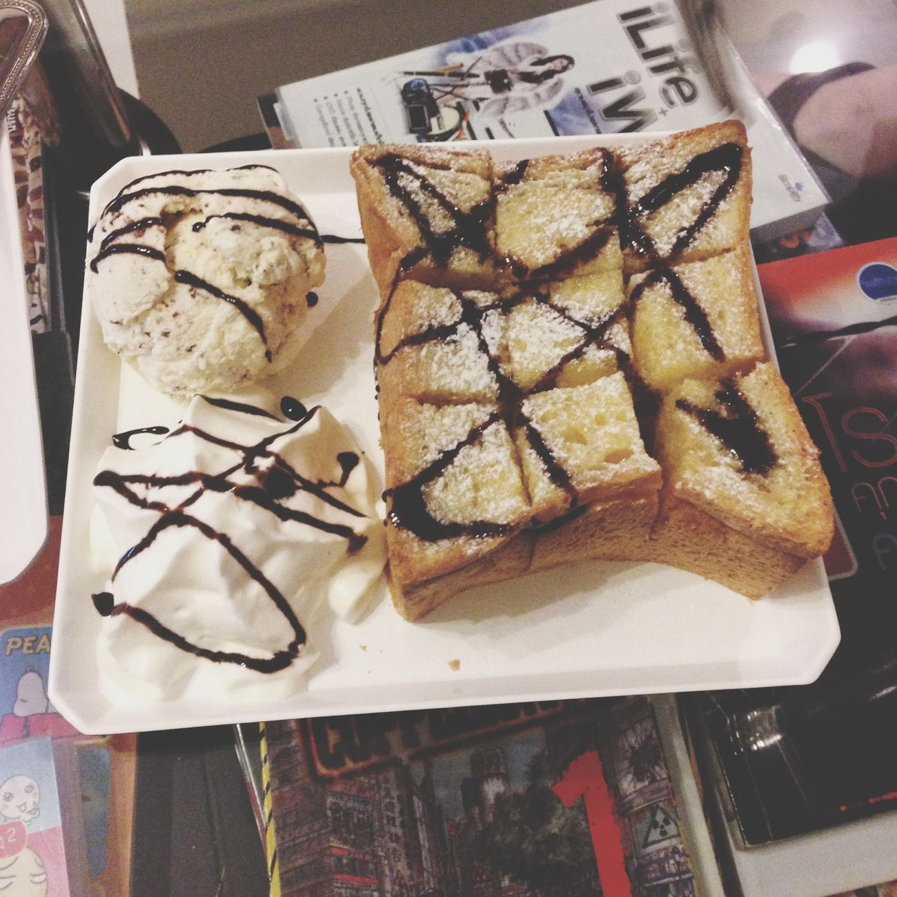 Fantastic honey toast Coffee Time Cake Chill Day Ice Cream