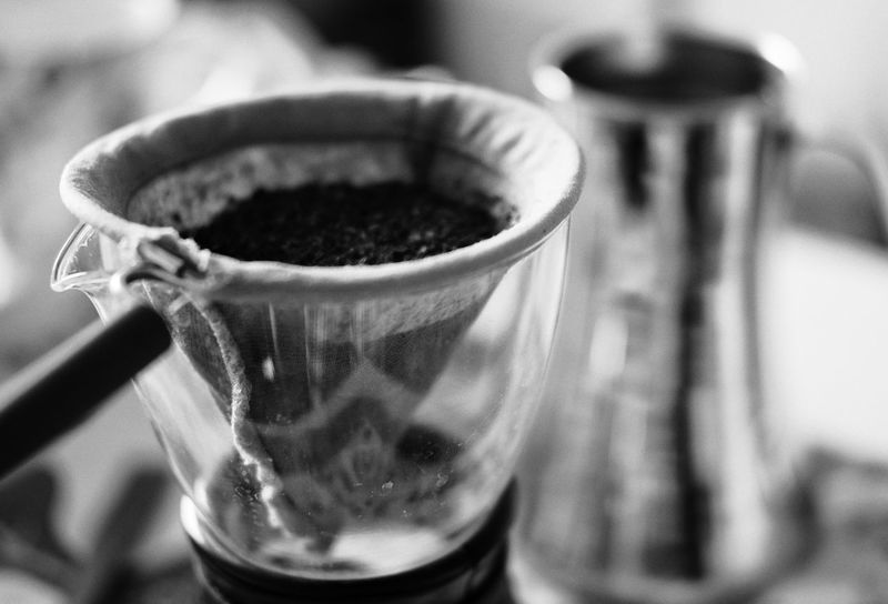 Coffee break. Black And White Cafe Cafe Time Close-up Coffee Break Coffee Time Container Cup Day Drip Coffee Focus On Foreground Hand Drip Coffee No People Refreshment Selective Focus Still Life