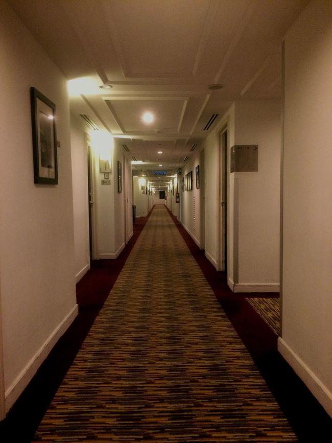 Straight corridor Illuminated Corridor Architecture Passage Vanishing Point Hallway No People Indoors  Working