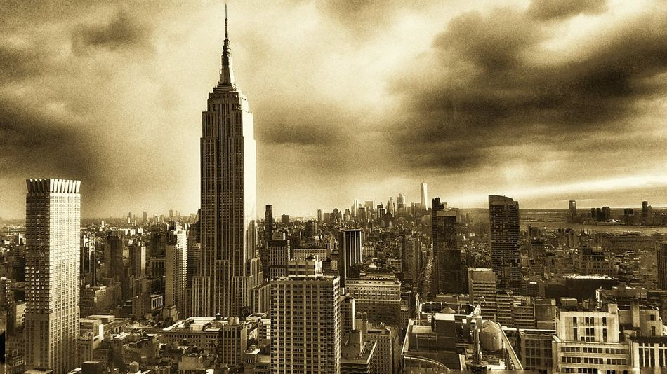 NYCNights NYC Skyline Empire State Building Sunset And Clouds  New York Skyline  NYCImpressions New York City Photos Nycphotography Empirestate