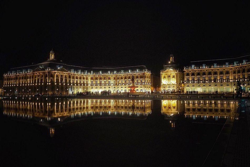 Overnight Success Illuminated Architecture Water Reflection Famous Place Place De La Bourse