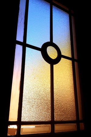 Window Light and Colors ... Silhouette of a Windowframe Windowpanes