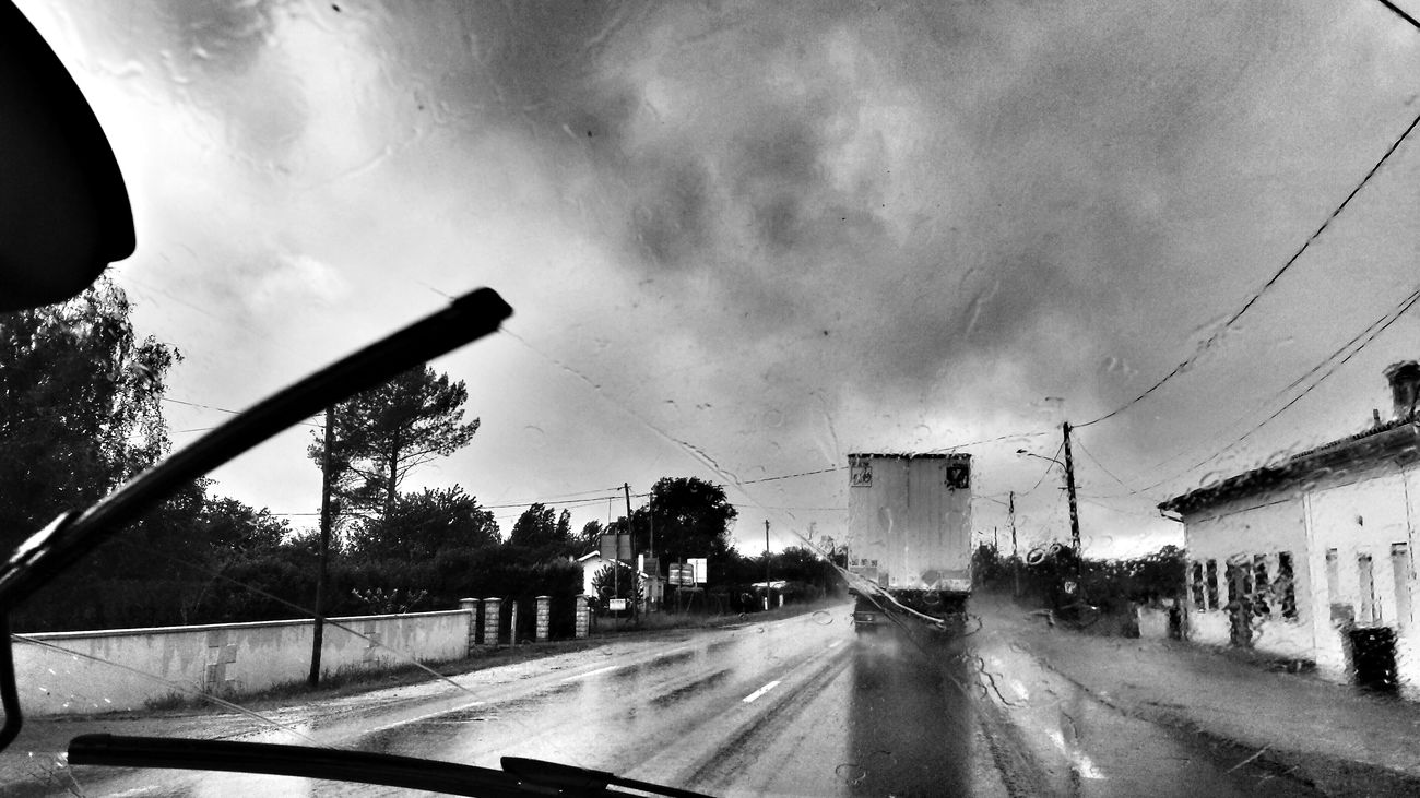 On the road, in the rain France 2014 The Storyteller - 2014 Eyeem Awards Bw_collection Black And White Capture The Ride With Uber