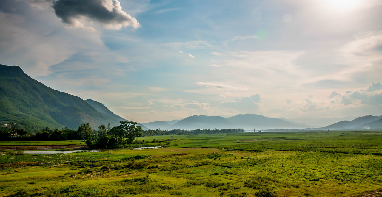 Quang Nam, Viet Nam Alone ASIA Blue Sky And Clouds Country Countryside Evening Light GoingOut Hoi An I Love Vietnam Landscape Motorbike Touring Mountains Nature Nice No People Outdoors Quang Nam, Vietnam Riverside Skyline Travels