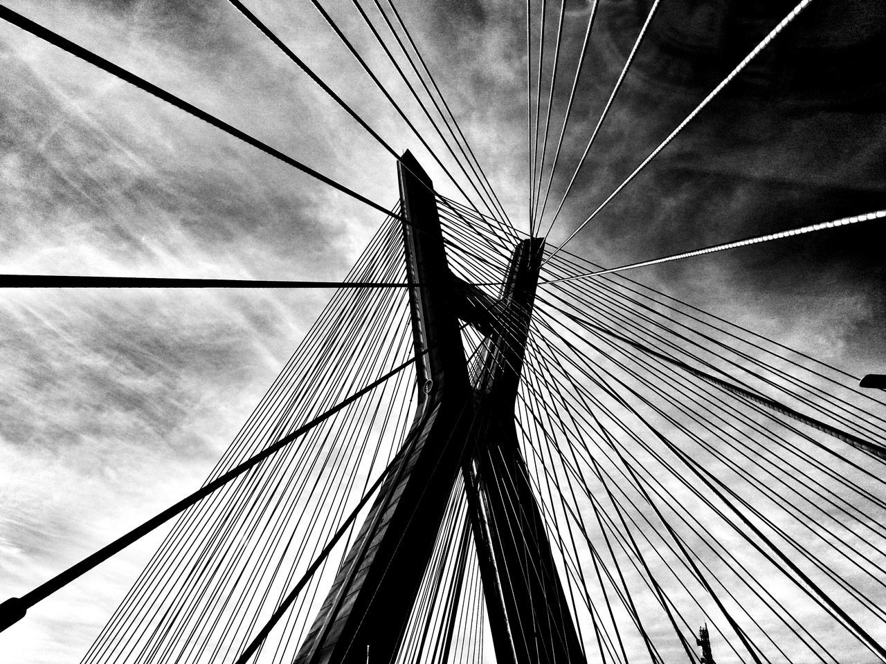 Bridge Architecturephotography Architecture_collection Architecture Ponte Estaiada Otávio Frias Filho, São Paulo, Brazil Sao Paulo - Brazil Streetphoto Street Photography Street Life Blackandwhite Blackandwhite Photography Black And White Collection  Pivotal Ideas