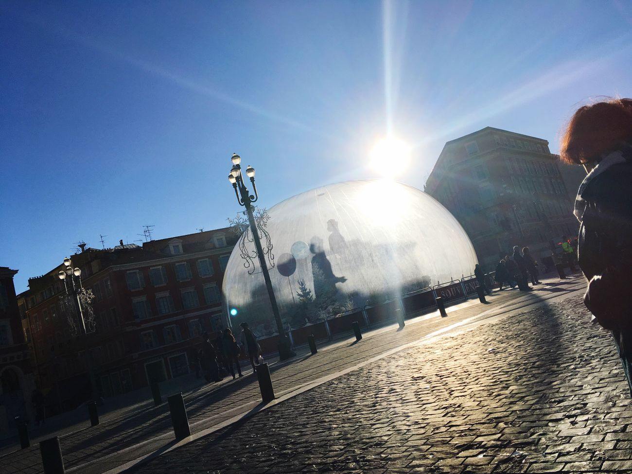 Sunlight Sun Lens Flare Sunbeam Sky Real People Outdoors Transportation Men Day Clear Sky One Person Architecture Adults Only Adult People