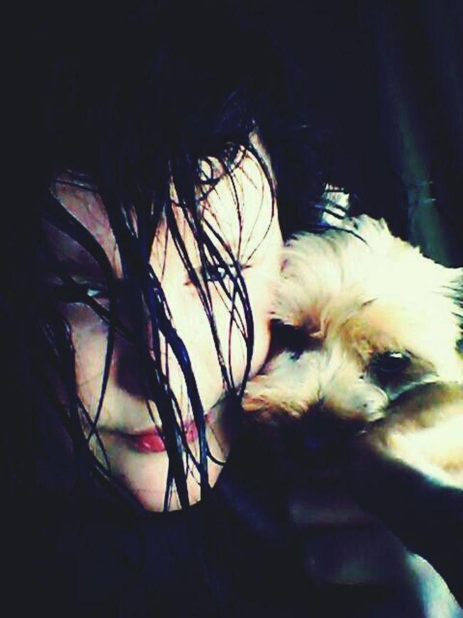 Wet Hair Selfiewithdog Selfie ✌ Cute♡