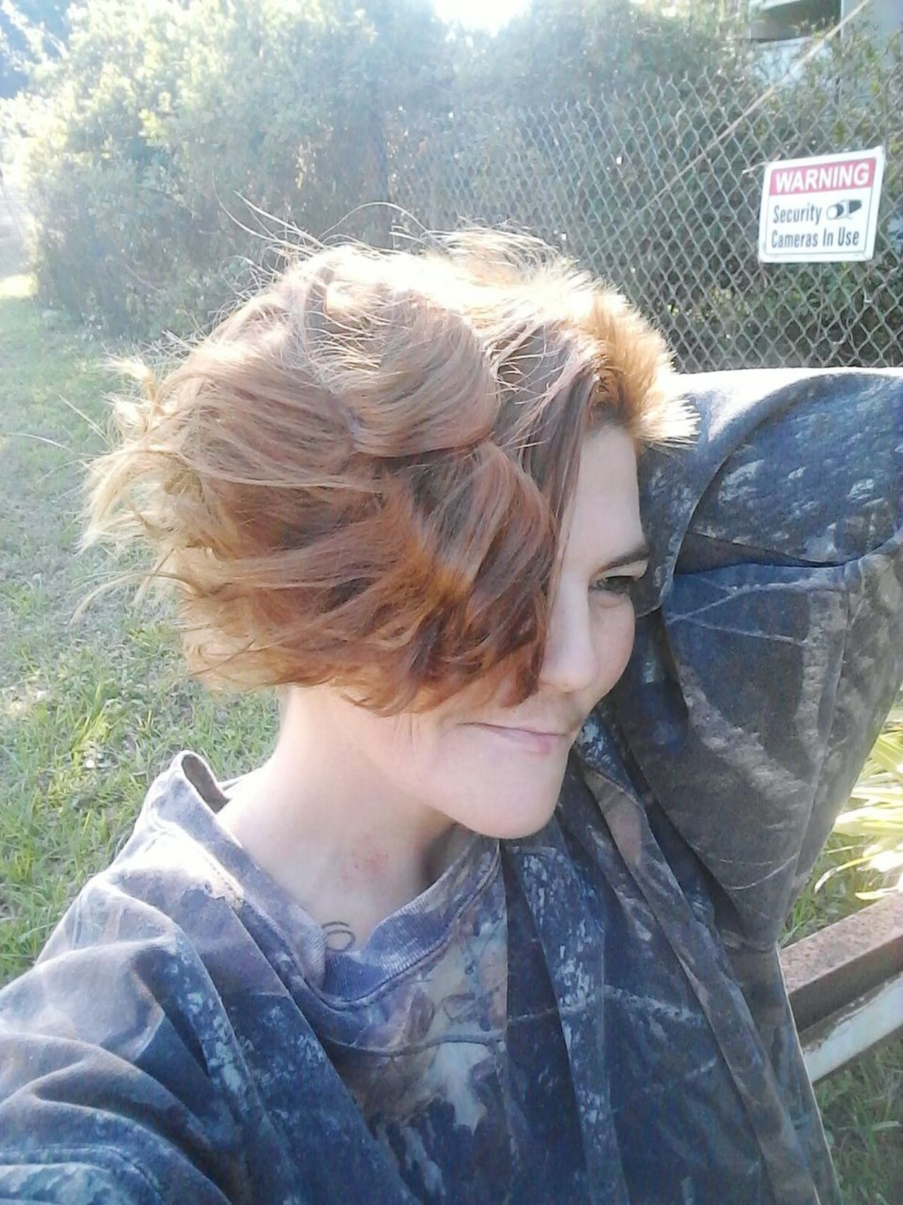 Fluffy hair day. One Person Outdoors Only Women One Woman Only Young Women Real People People Close-up Adults Only Adult Women Fluffy Hair Style  Happiness ♡ Grass All Natural No Makeup All Natural Pure Beauty!! Northside Jacksonville Florida