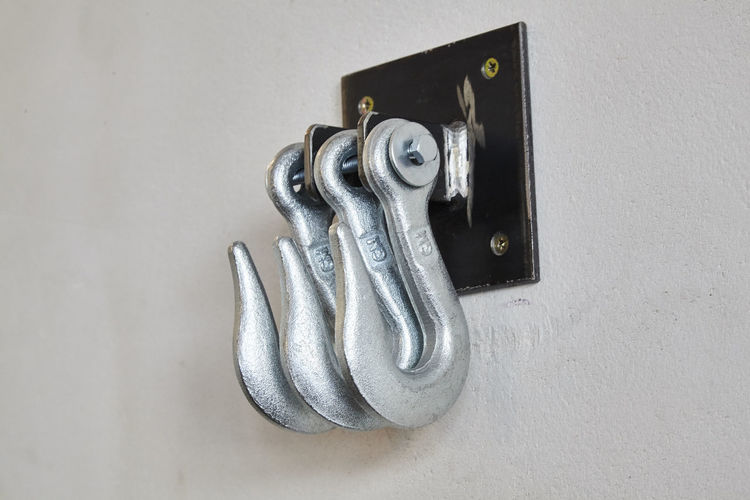 Close-up Decoration Hook Iron Metallic No People Power Rithm Screwed Still Life Strong Wall