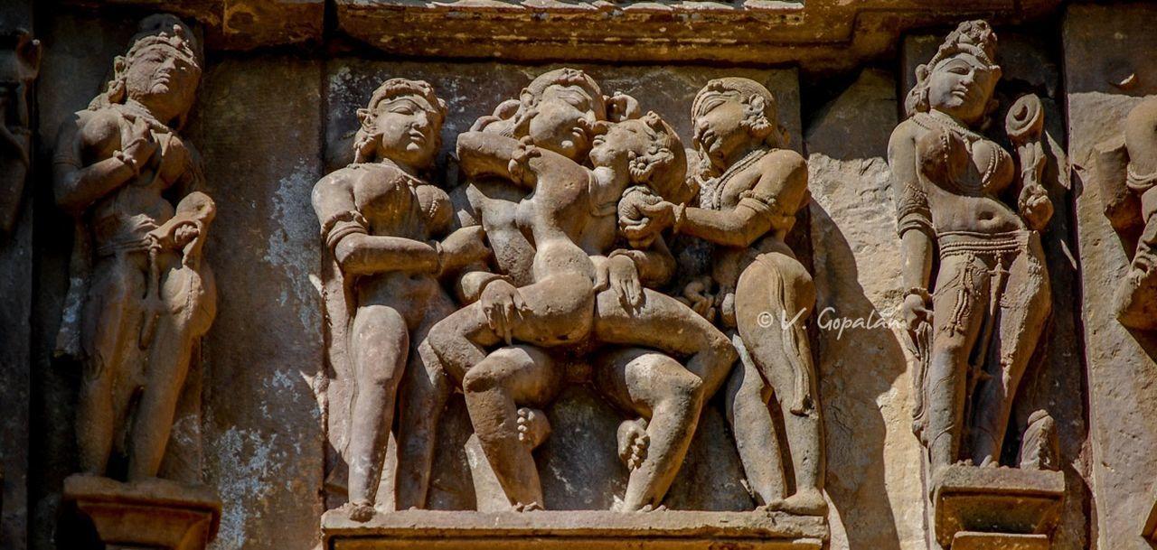 11th century High relief Khajuraho, Madhya Pradesh, India. Khajuraho Alto-relievo Ancient Civilization Art Kamasutra Kamasutra Sculptures Sculpture
