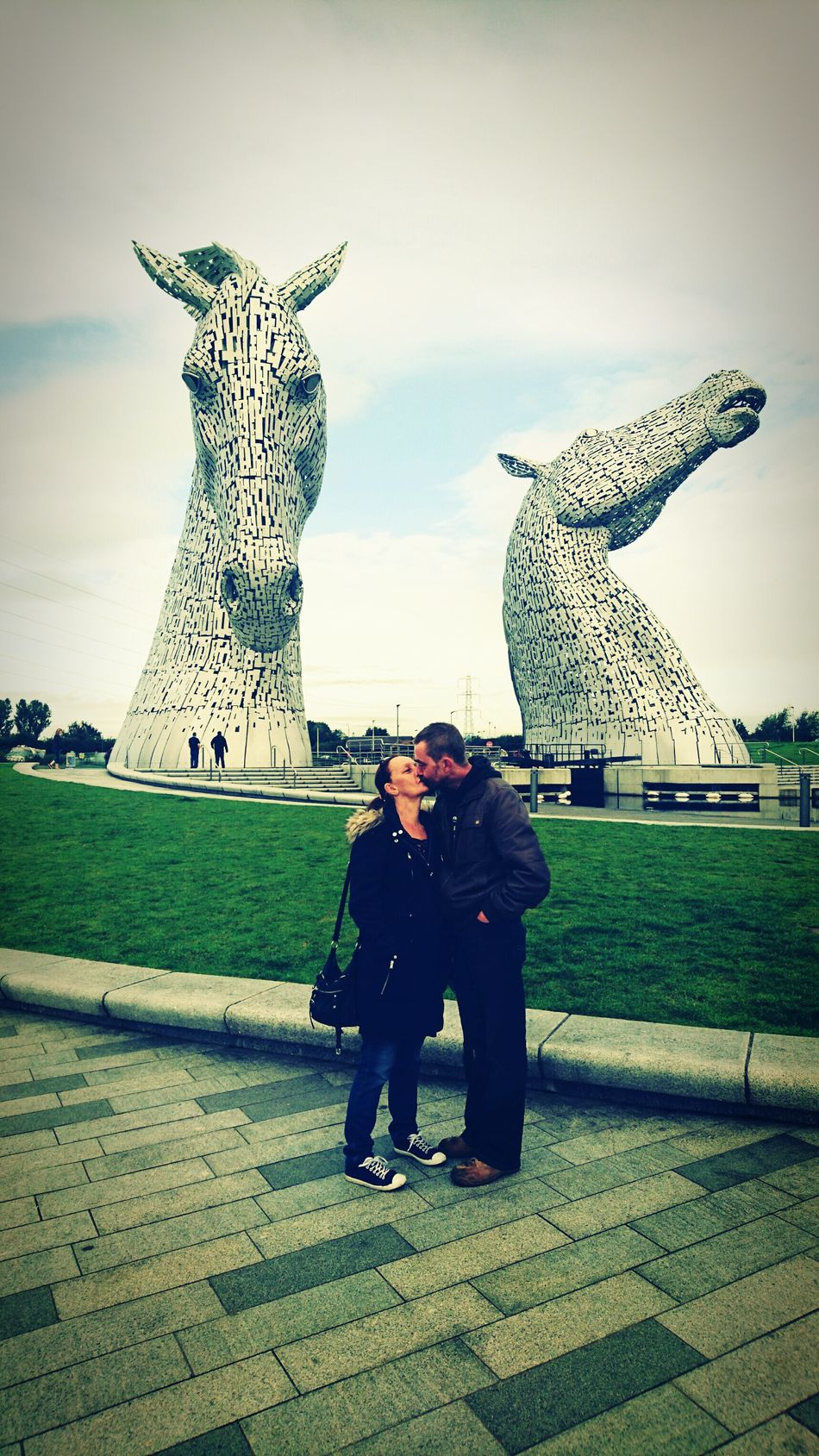 Making my parents let me take a cheesy picture. Romantic Love Kissing Couple EyeEm Best Edits Getting Inspired Taking Photos First Eyeem Photo Popular Photos EyeEm Best Shots Kelpies  Architectural Feature Falkirk Kelpies Of Falkirk Scotland