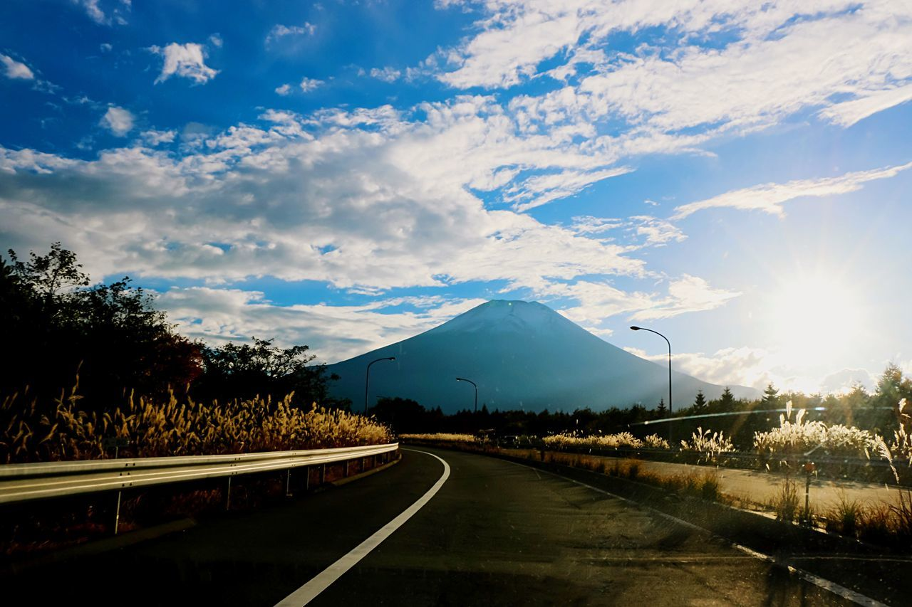 A Series Of Fuji Mountain's Picture -19 Mt.Fuji Natural Beauty Backlighting EyeEm Best Edits Eye Em Nature Lover Taken By Driveing Beautiful Nature From Haiway Bulrushes In Backlighting