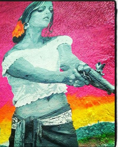 Street Art Overtown Miami Mexican Girl Another Day In The Hood