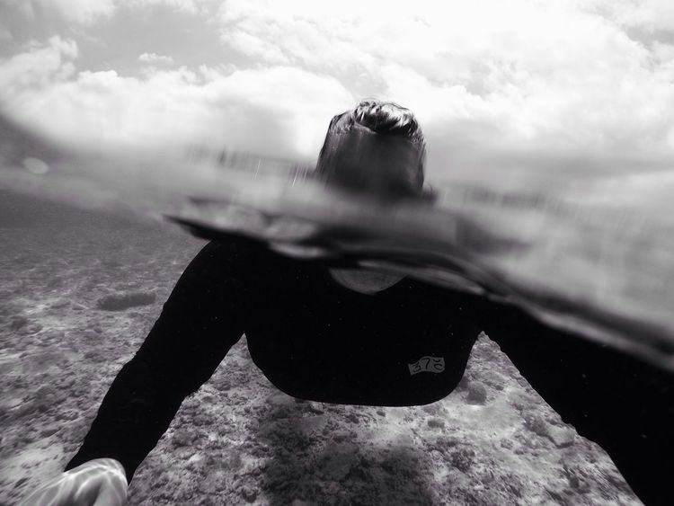 Blackandwhite Underwater Selfie Ocean Travel Snorkeling Swim Island Perfect Imperfection Selfie Fail Been There. Done That.