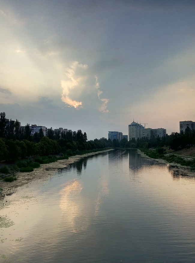 Ukraine Kiev Kievblog Channel Channels Channel View Cityscapes City Landscape Clouds Clouds And Sky Cloud Water Reflections Water_collection