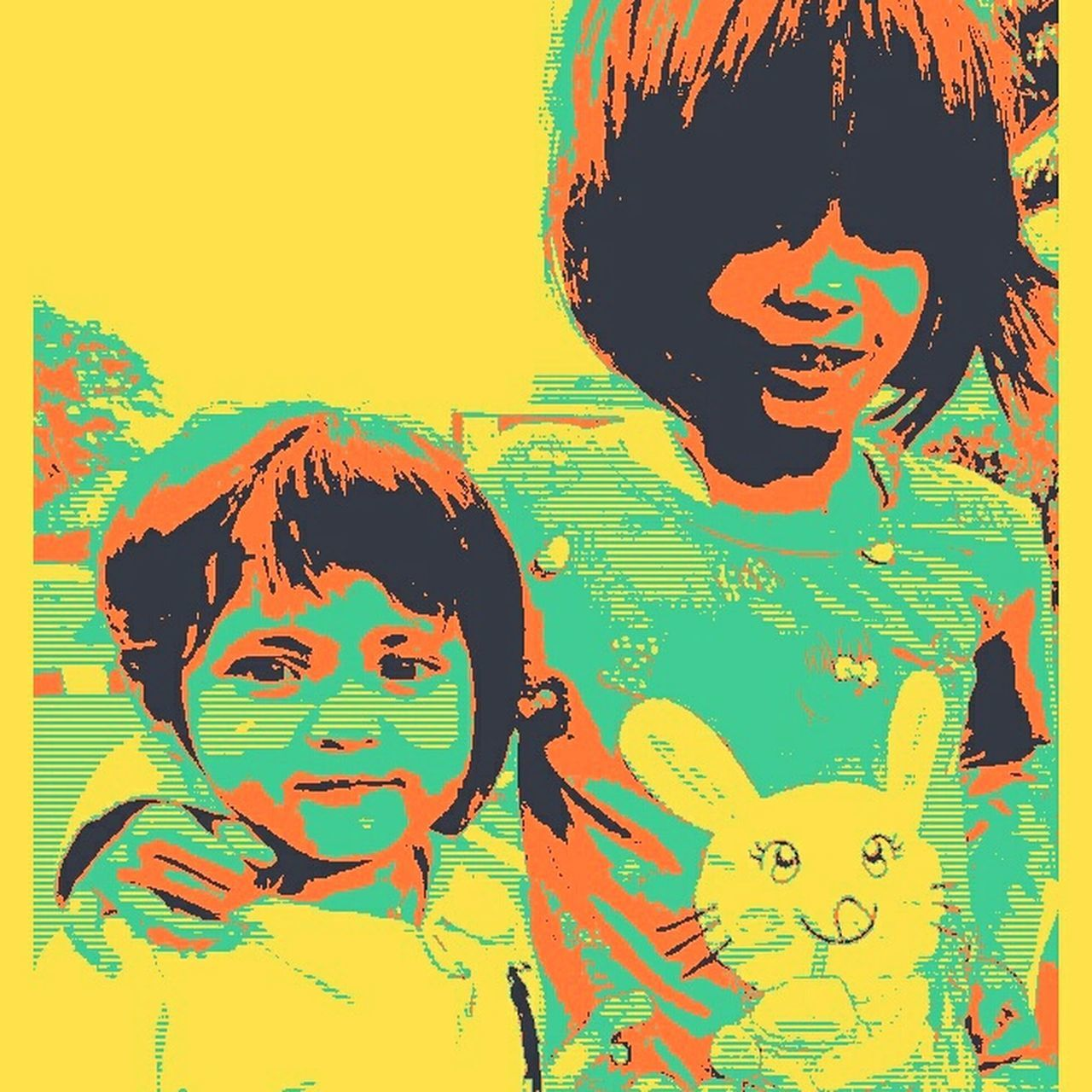 My girls Popart Potrait Sister❤