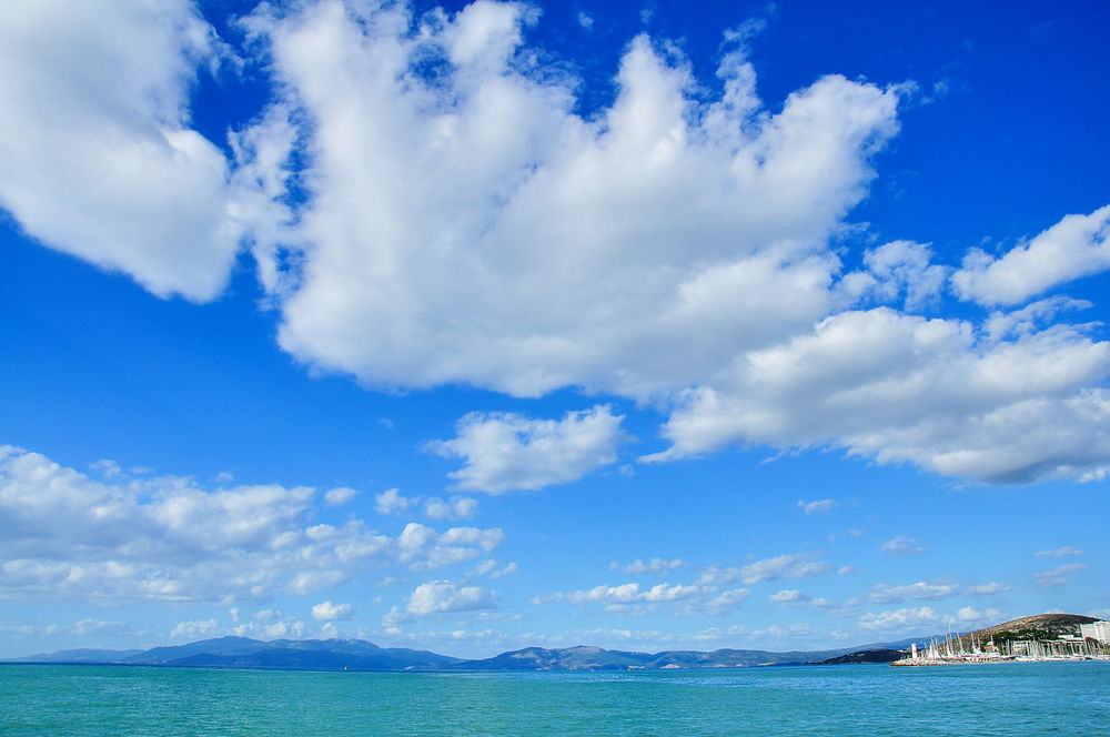 Kusadasi Cityscape Beach Beauty In Nature Blue Cloud - Sky Day Holiday Horizon Over Water Kusadasi Kusadasi, Turkey Kuşadası No People Outdoors Sea Sky Travel Travel Destinations Travel Photography Traveling Turkey Vacations Water