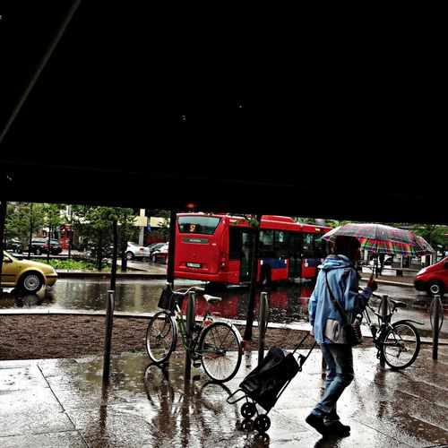 Streetphotography Water Rain Light And Shadow