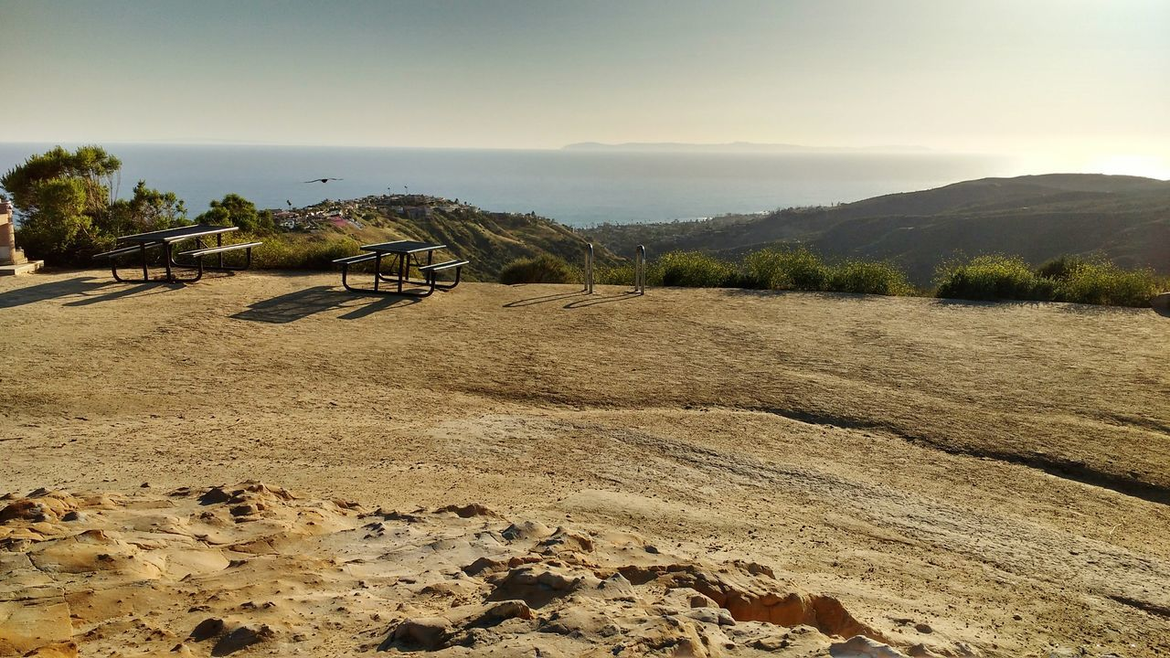 Laguna Beach Alta Laguna Park Park Picknickbench View From The Top Topoftheworld Ocean View Southern California California Sky Rocks Hills Cliffs