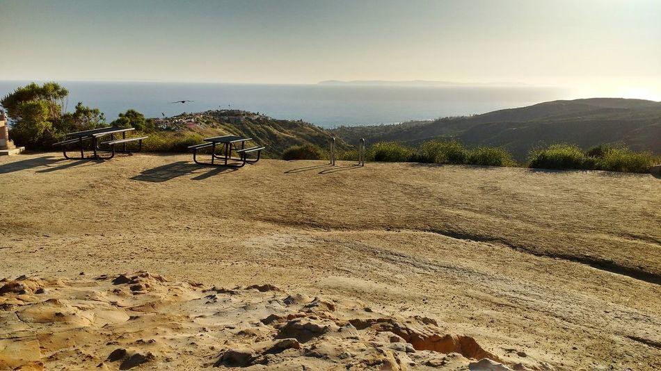 Laguna Beach Alta Laguna Park Park Picknickbench View From The Top Topoftheworld Ocean View Southern California California Sky Rocks Hills Cliffs