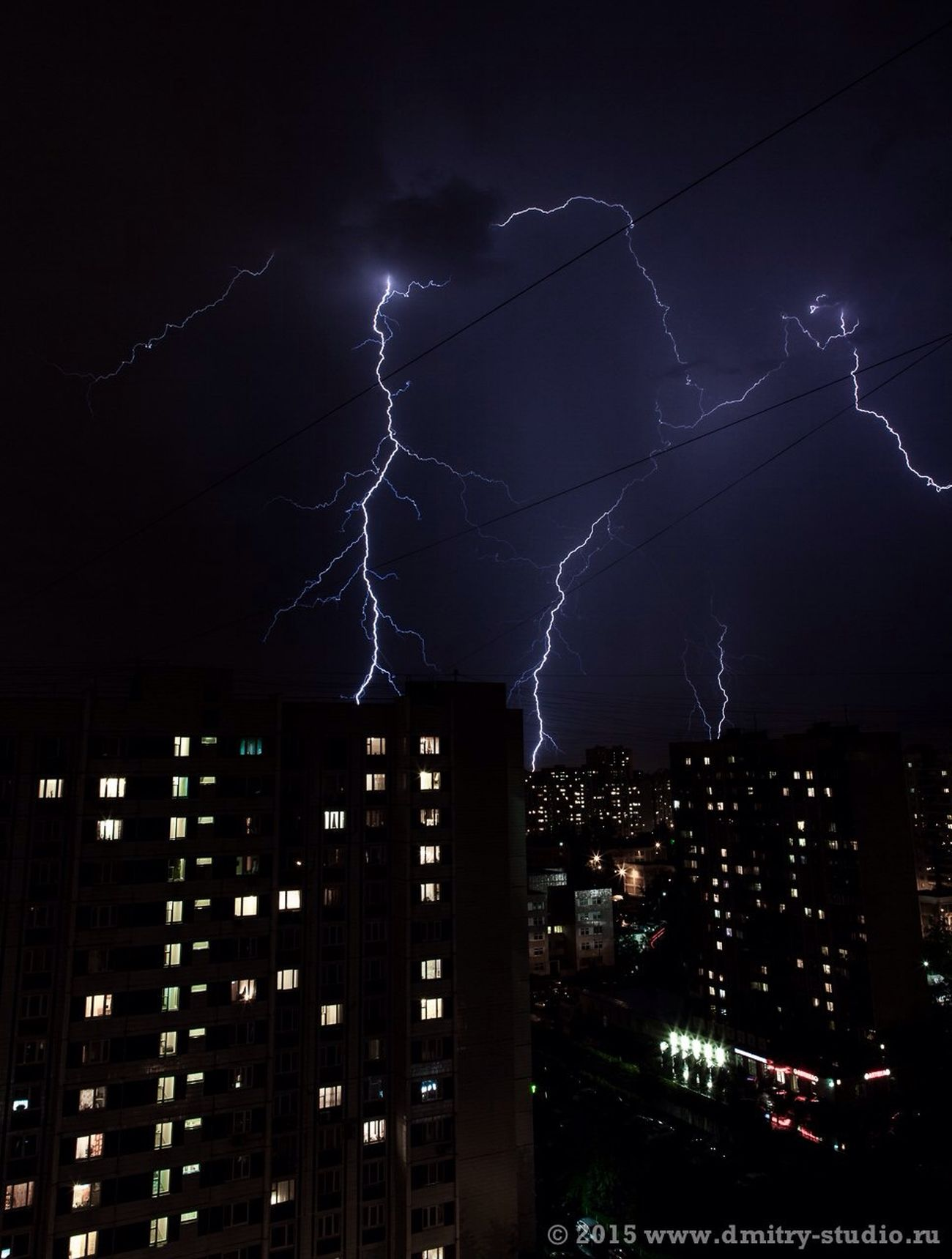 Lighting Night Flash Thunderstorm гроза Молния