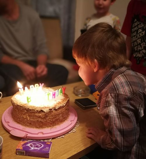Happy birthday Sweet Food Candle Birthday Candles Party - Social Event Birthday Life Events Dessert Indoors  Joy Food People Domestic Life Happiness
