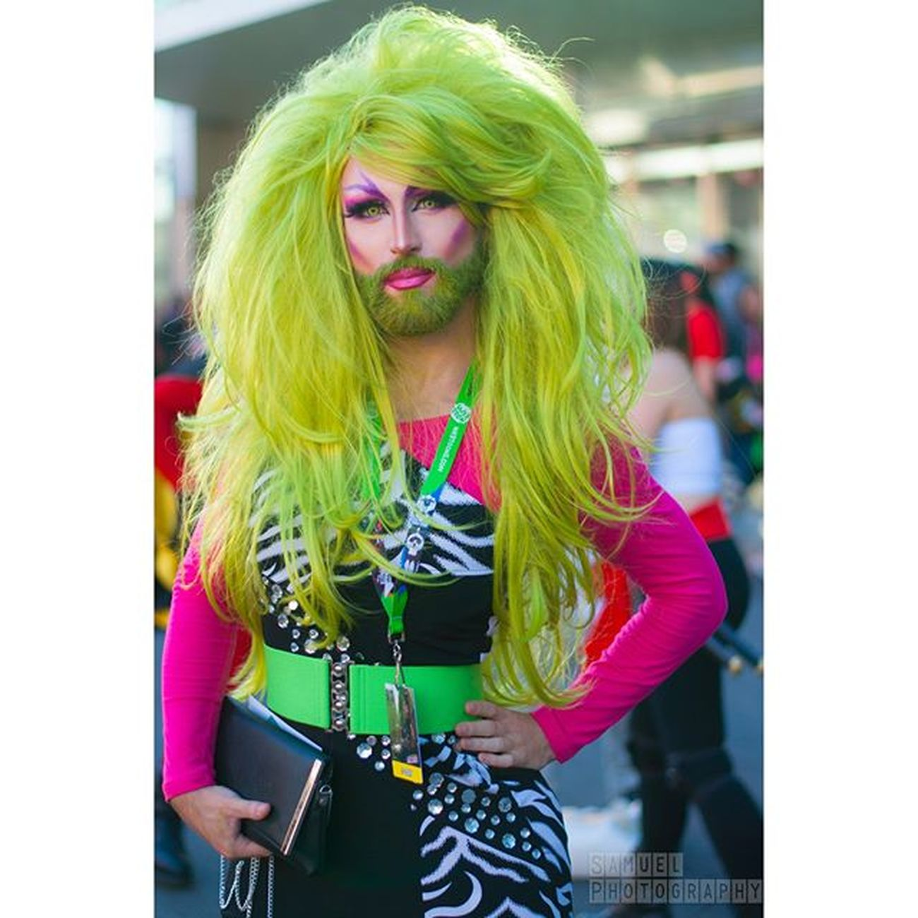 Colorful FAbLoUs Beardcolor Greenhair Cosplayphotogtraphy Cosplay Newyorkphotography NYCC NYCC2015 Nycc15 Comiccon Newyorkcomiccon