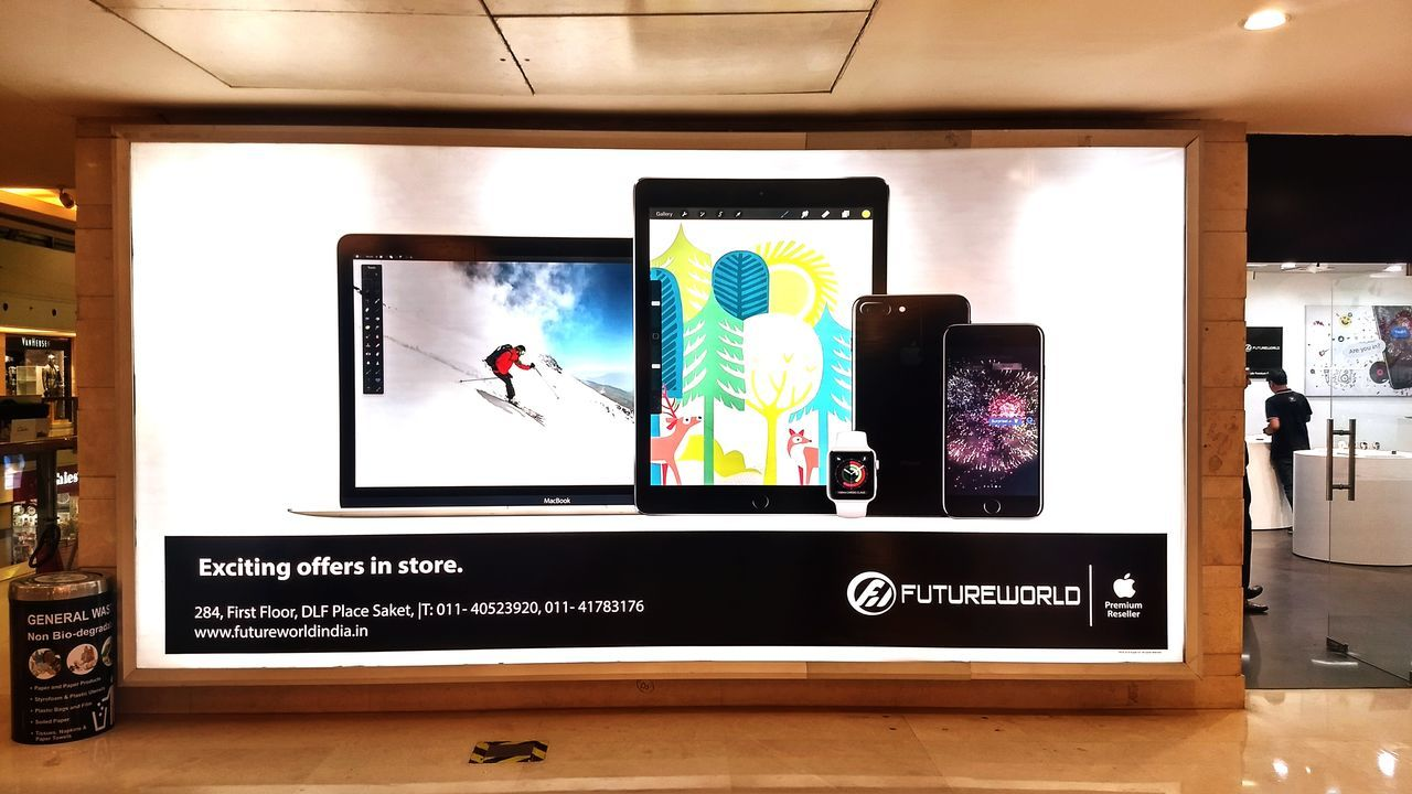 Future world @ saket Technology Wireless Technology Direction Indoors  No People Day First Eyeem Photo