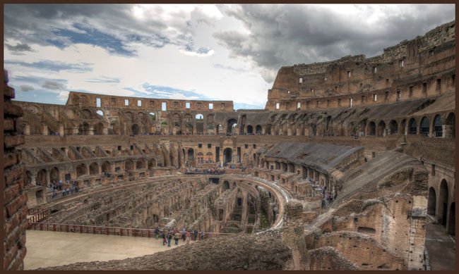 Amphitheater Ancient Civilization Architecture Built Structure Colloseum Day History Horizontal Large Group Of People Men Old Ruin Outdoors People Real People Rome Italy Sky Tourism Tourist Travel Destinations