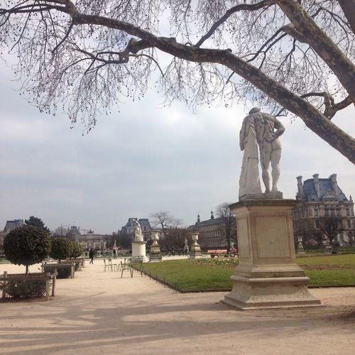 Art Capital Cities  Daily Life Famous Place Jardin Des Tuileries Paris Spring Statue Travel Destinations Tuileries Garden