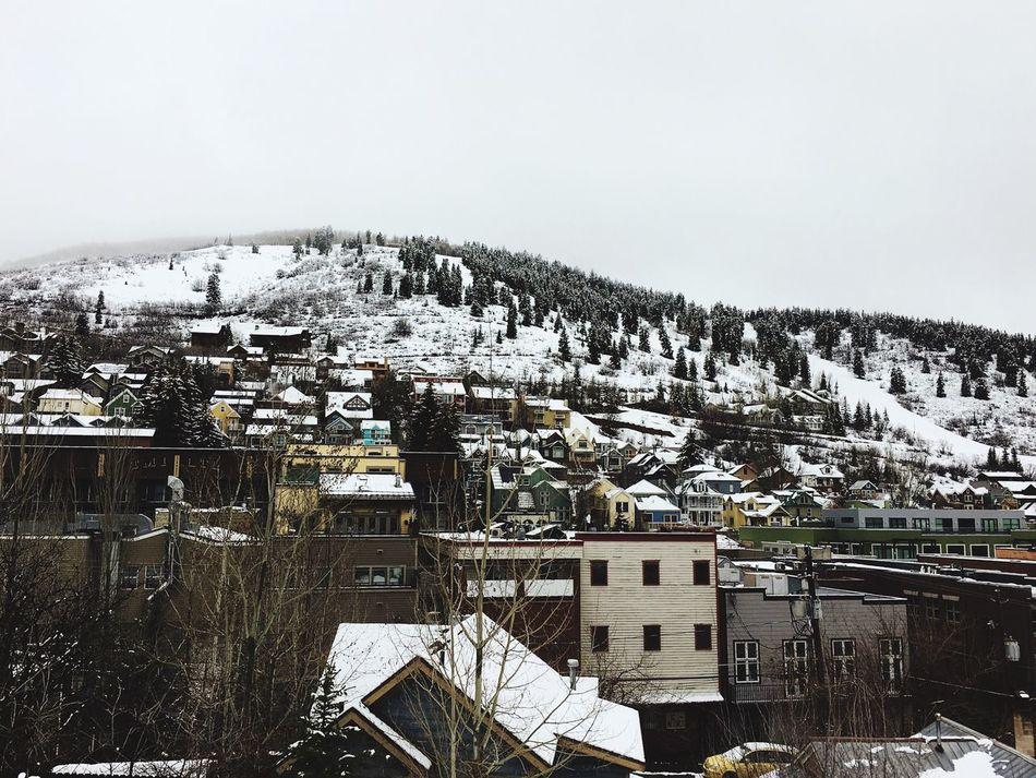 mountain town view Park City, Utah