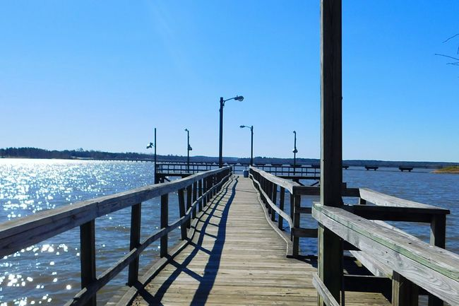 Lake fishing pier. A warm sunny day on the lake in January here in east Texas! Lake Fishing Pier Water Water_collection Sunny Sunny Day Water Reflections Lakeview Lakes
