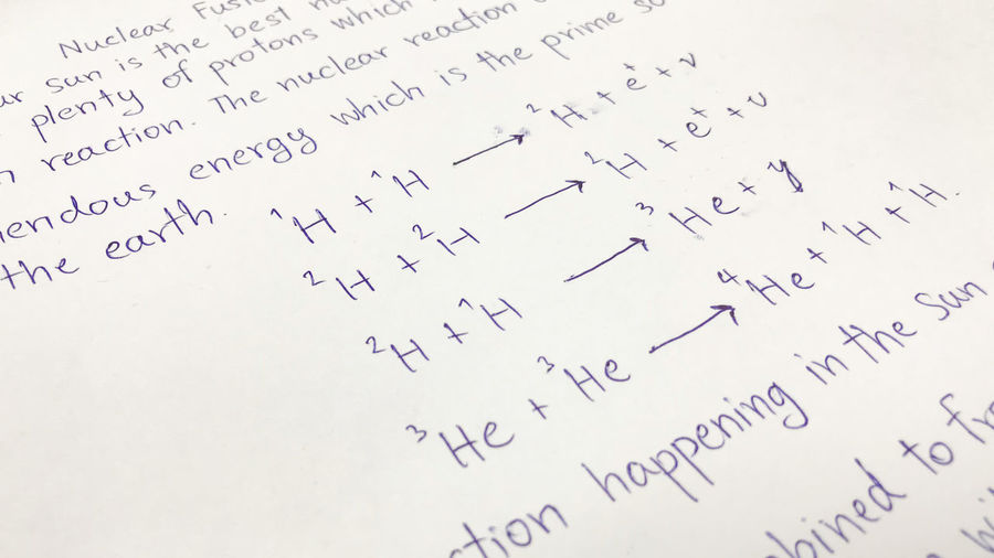 Nuclear formula inscription on the paper presents the concept of education and innovation. Can be used for display or montage your production. Presentation of advertising ideas. Nuclear Formula Close-up Day Formula Indoors  Inscription No People Paper Text